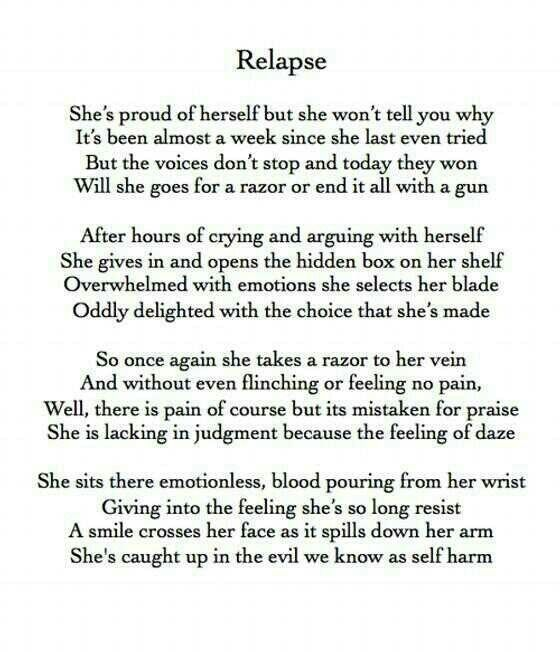 Emo Quotes About Suicide: Best 25+ Relapse Quotes Ideas On Pinterest