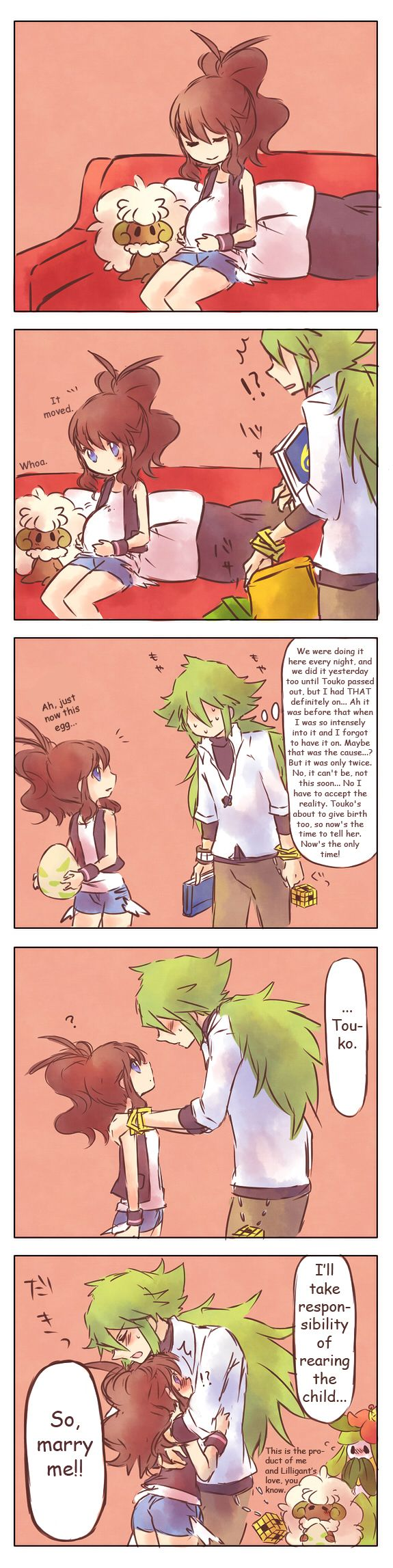 Lol, N thought she was pregnant XD  (No Ship, thought it was cute) White Pregnant.....Not! by Sin-D-Hellian on DeviantArt