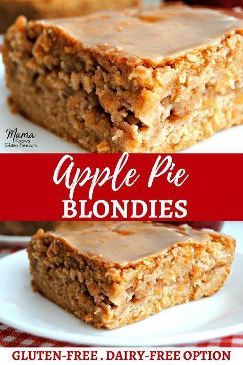 Apple Pie Blondies {Gluten-Free & Dairy-Free Option} – Mama Knows Gluten Free