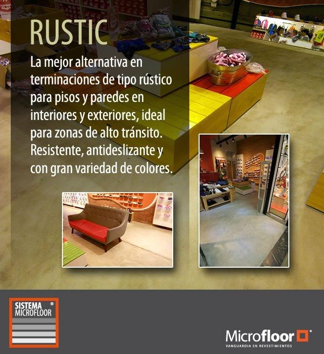 Microcemento - Revestimiento Microfloor Línea Rustic