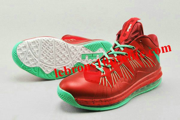 """Nike Air Max Lebron X Low """"Christmas"""" Red/Green"""