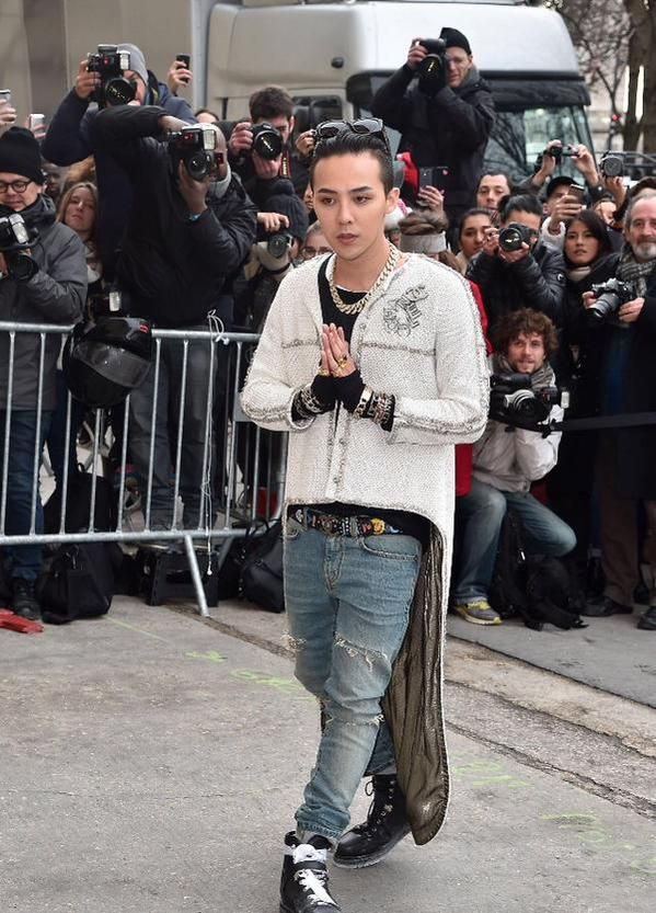 Gdragon Chanel Paris Mens Fashion Week 2015 Bigbang Pinterest