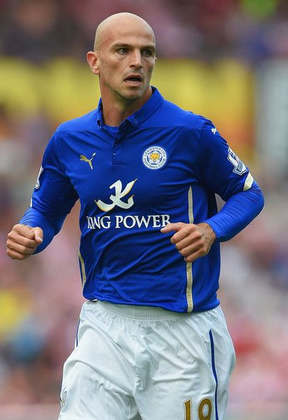 Esteban Cambiasso of Leicester City against Stoke City