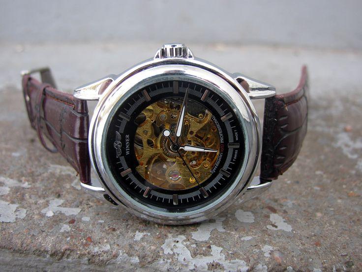 Herrklocka Winner - Casual #winner #skeleton #armbandsur #klocka #klockor #herrklocka #herrklockor #runns #watch #watches