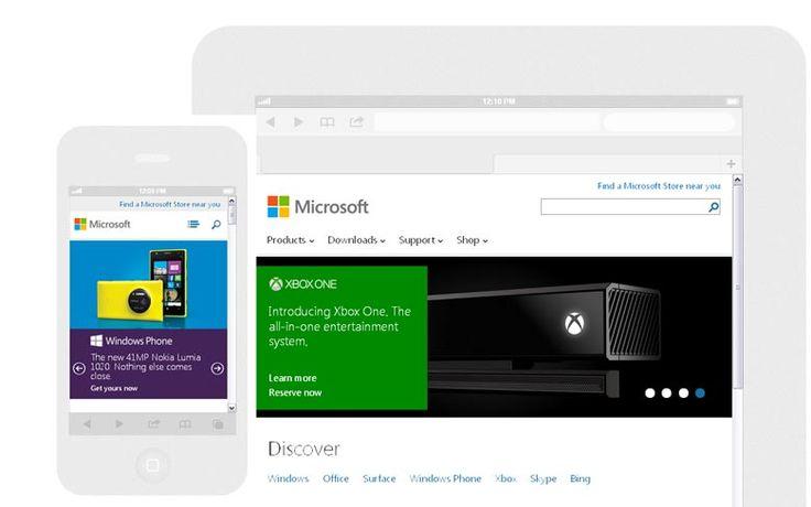 Microsoft Adopt Responsive Web Designs