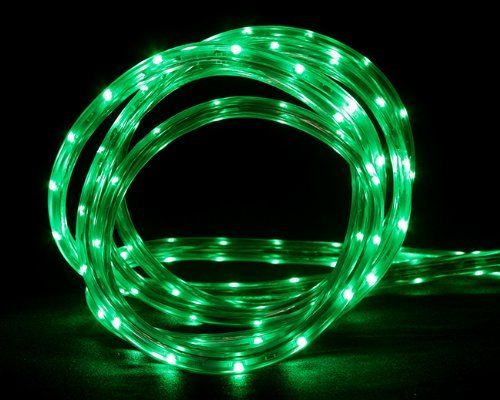 10' Green LED Indoor/Outdoor Christmas Linear Lighting by CC Christmas Decor. $24.99. Product features:Light color: greenTube color: clear Spacing between each bulb: 1 inchTotal length: 10 feet 2 foot lead cordApproximate thickness: 3/8 inch diameterWire gauge: 18Additional product features:LED lights use up to 80% less energy Super bright, vibrant bulbs Stays cool to the touch Includes 1 replacement fuse and 10 piece mounting clips with screwsUL listed for indoor/outdoor use E...