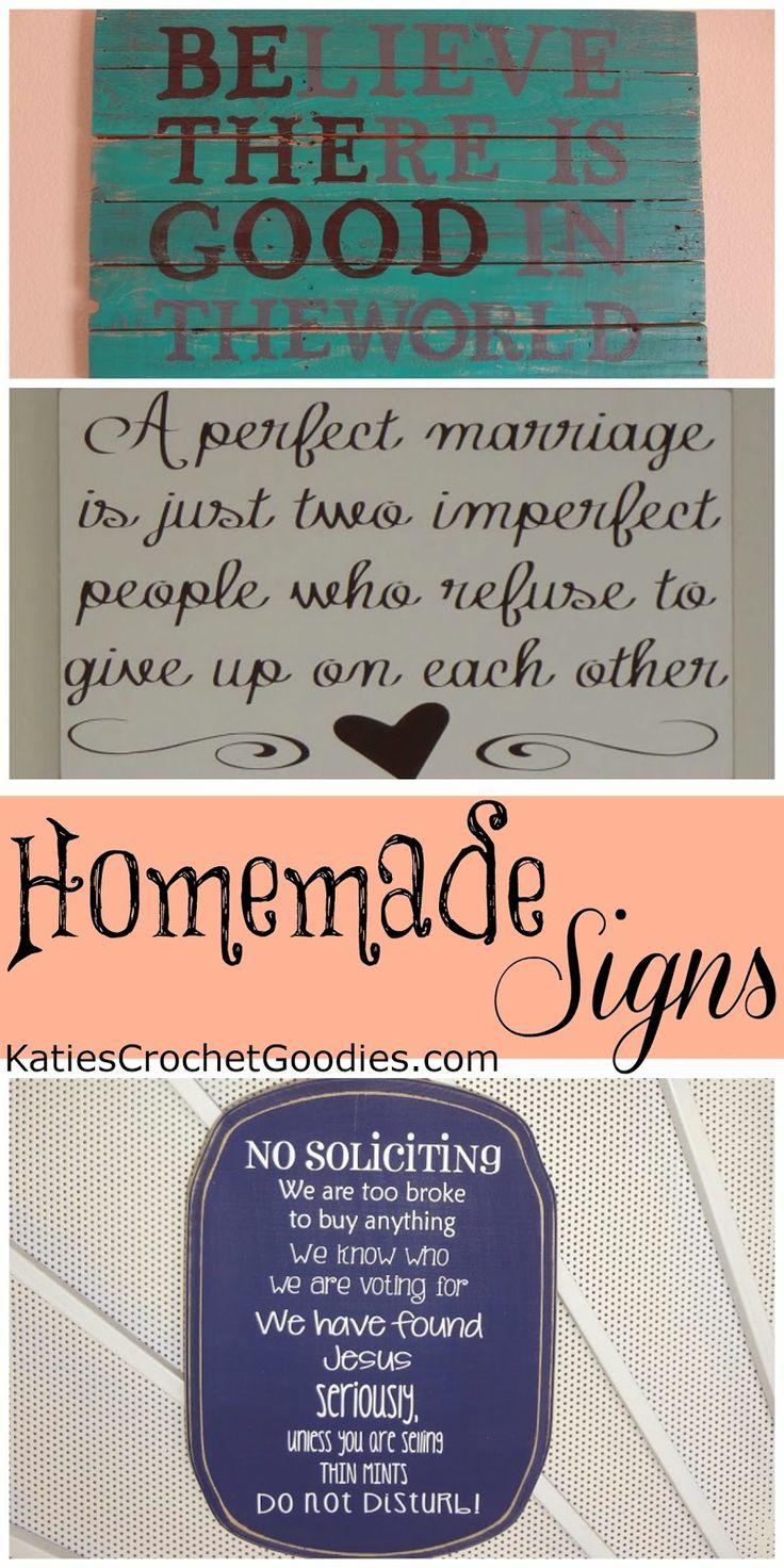 Homemade Signs! - Katie's Crochet Goodies