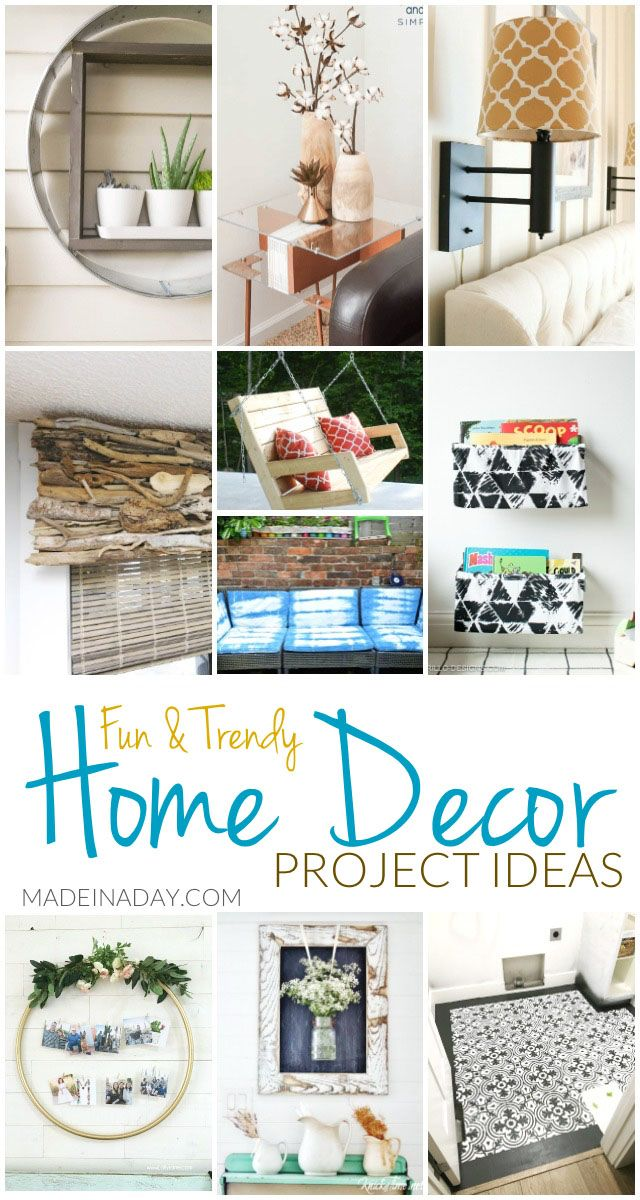 Fun Trendy Home Decor Project Ideas | Made in a Day