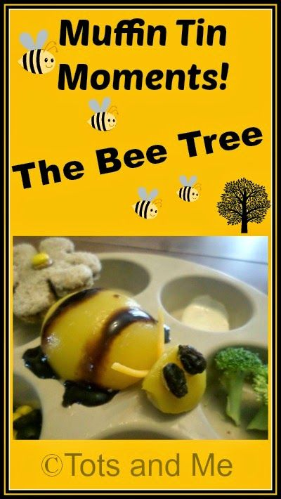 Tots and Me... Growing Up Together: Muffin Tin Moments: The Bee Tree  A #muffintinmeal to go with the book The Bee Tree by Patricia Polacco. Used with My Father's World 1st Grade memory verse Proverbs 16:24