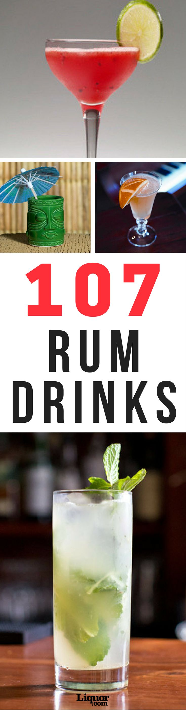 Wondering what to make when the rum isn't gone? Look no further. Click the link for all of the best rum cocktail recipes, perfect for any season or occasion. #Rum #Cocktails