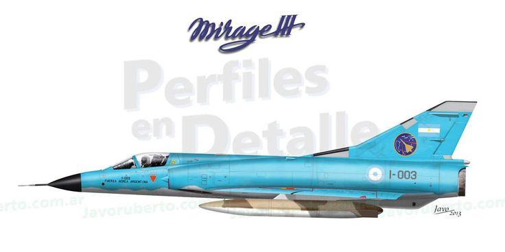 Dassault Mirage III EA - (c/n. 1F/1D) I-003 Escuadrón II del Grupo Aéreo 6 de Caza  Tandil, Buenos Aires -1989