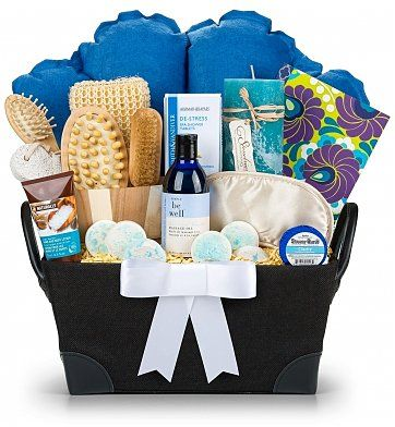 Relaxing Retreat Spa Gift Set: Spa Gift Baskets - A luxury spa gift for that hardworking person in your life. $79.95