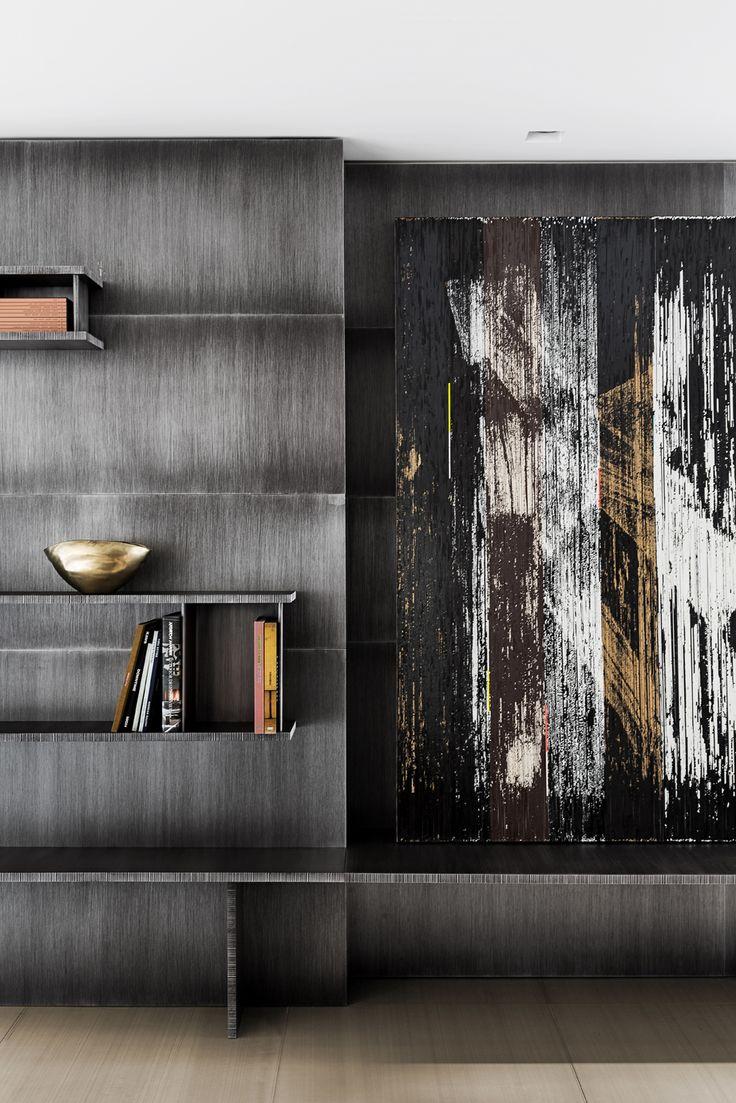 """Library design by Olivier Dwek, 2009. Gregor Hildebrandt, """"Heller Quaantensprung (John Mausse)"""", 2011. www.olivierdwek.com"""