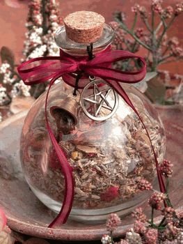 Love Magick Natural Herb Witch Bottle - pagan wiccan witchcraft magick ritual supplies