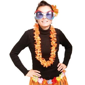 Hawaii Krans Basic Oranje