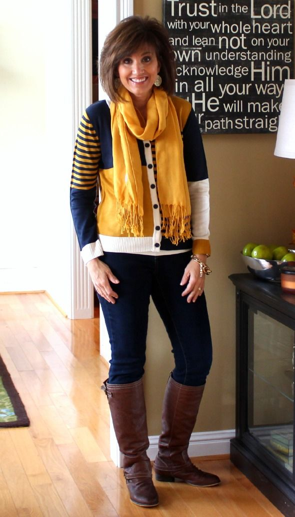 LOVE THE YELLOW!!! Brightens up those winter blues ;)  Fashion Over 40-What I Wore