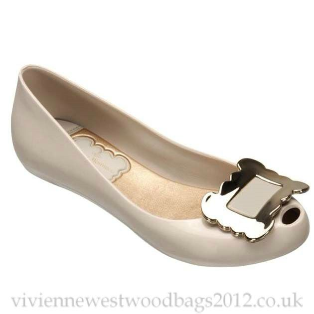 Vivienne Westwood Low-heeled Melissa Shoes 2014 Beige Save: off.