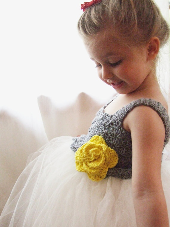 Adorable.Girls Tutu, Crochet Bodice, Tutu Dresses, Girls Dresses, Crochet Tops, Flower Girl Tutu, Special Occasion Dresses, Flower Girls, Yellow Flower