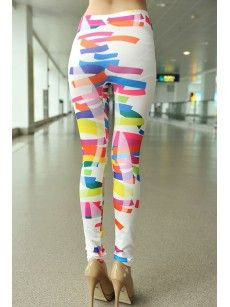 Stretch Irregular Pattern Printed Leggings