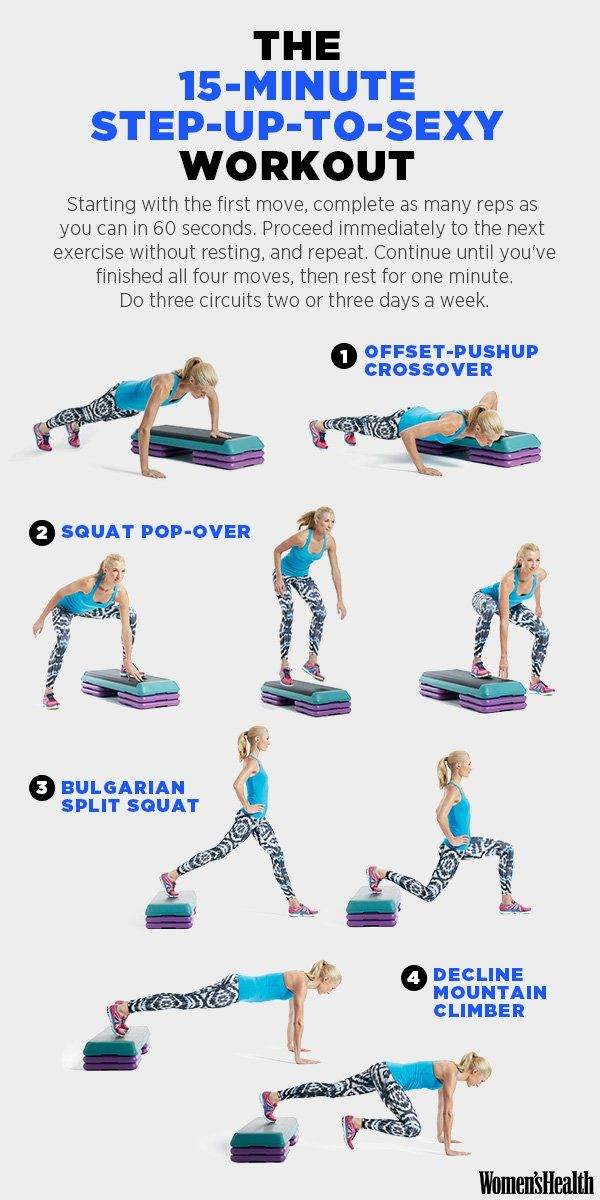 Offset-Pushup Crossover  http://www.womenshealthmag.com/fitness/step-up-to-sexy-workout http://amzn.to/2s1tGlK