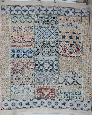 spanish patterns - I love this sampler but numerous searches have failed to find me a title or if it is even available as a chart. It is possible that someone created this piece using their favorite bands from other samplers. If anyone knows anything about it, please feel free to share.
