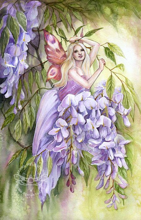 Fairy and Fantasy art by Janna Prosvirina - Wisteria