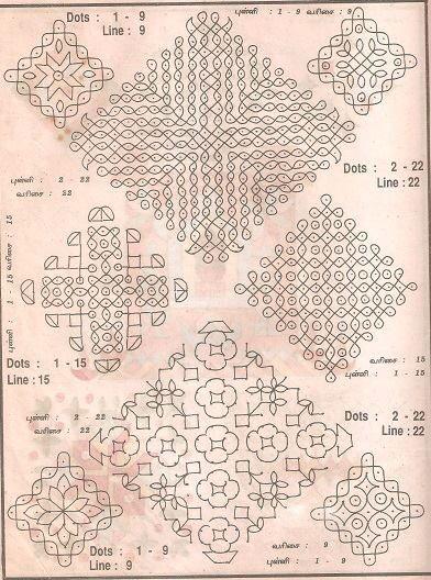 Vintage Muggu ( Rangoli ) designs