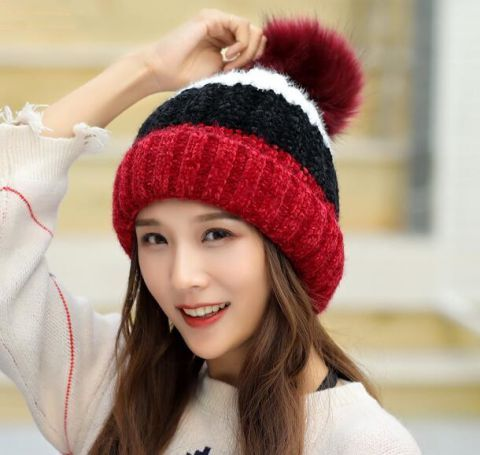 073afa4ca13 Pom Pom Hat · Knitted Hats · Color Blocking · Beanies · Knit Hats · Womens  Winter Hats · https   www.buyhathats.com color-block-bobble-