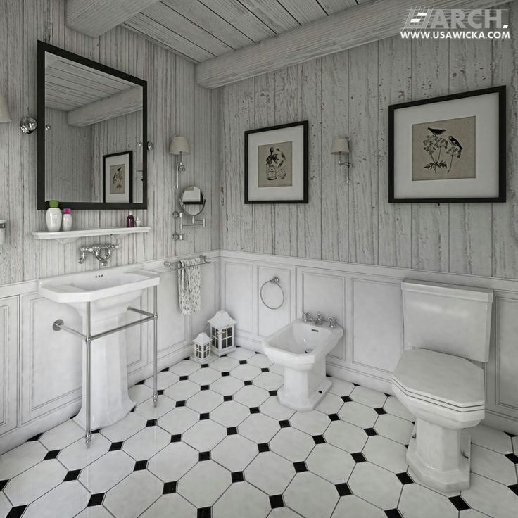 Farmhouse. Bathroom. www.usawicka.com