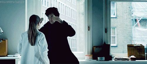 Best scene ever from Sherlock...16 Times Benedict Cumberbatch Was The World's Sexiest Sherlock - Except the Moriarty one