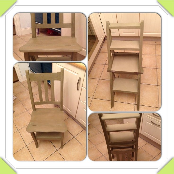 Old fashioned library chair in anni sloan olive chalkpaint ;)