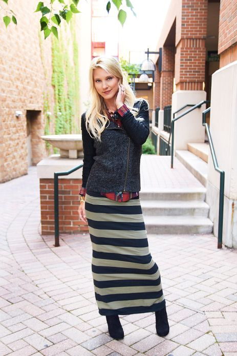 Striped Maxi Skirt Hot Mama Official Site Women S