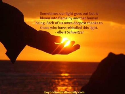 There have been times in my journey when a friend or stranger has rekindled my light. I also have been given the sacred opportunity to serve. It is acts of love and kindness that expands our souls and enhances the depth of our living.