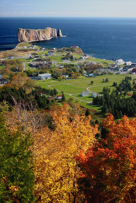 Percé in autumn, Quebec, Canada