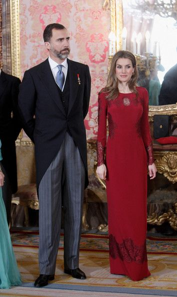The Spanish Royal Family attended the Foreign Ambassadors annual reception at The Royal Palace today.