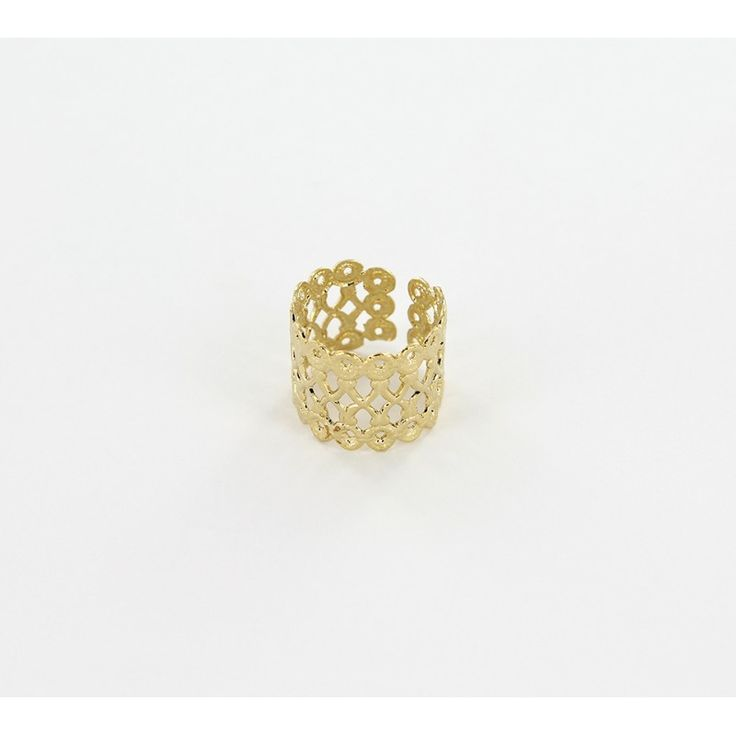 Bague fantaisie Gallery maxi doré – Créateur paris bijoux Medecine Douce – Bijoux fantaisie