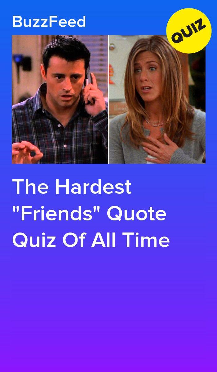 Who Said It The Friends Edition Friends Quizzes Tv Show