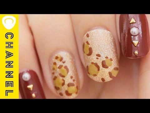 爪楊枝でつくるレオパード柄ネイル 秋のド定番デザイン♡|C CHANNELネイル - YouTube