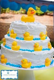 Baby Shower Rubber Duckie Cake