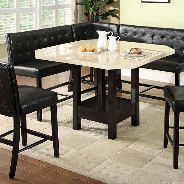 bahamas dining table description this counter height dining set fits perfectly in the corner of a kitchen the two bench seats comfortably