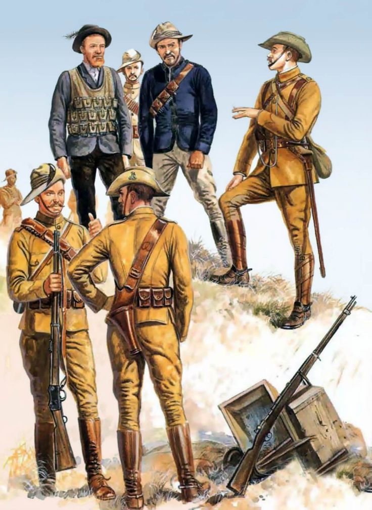 Boer and British forces, Anglo-Boer War