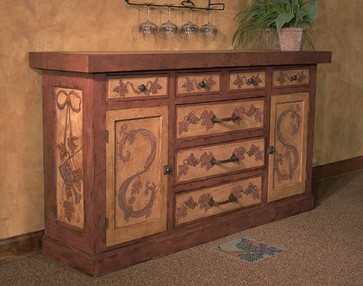 Old World mediterranean buffets and sideboards