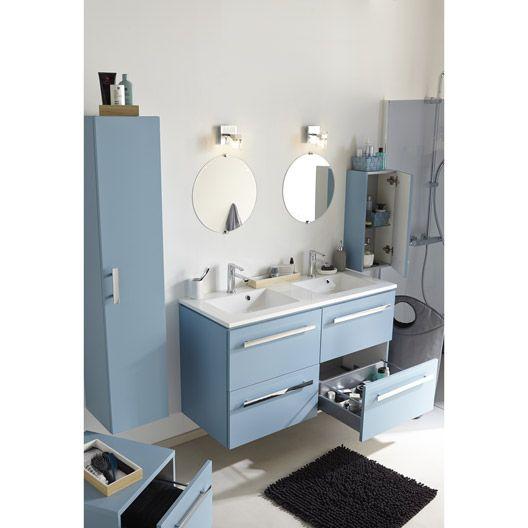 Meuble de salle de bains n o bleu baltique salle de - Meuble salle de bain orange ...