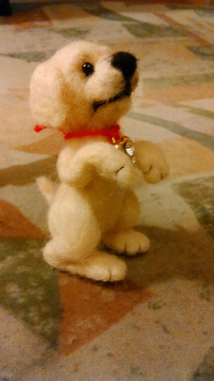 Puppy :) Needle felting by Alina Wodzińska