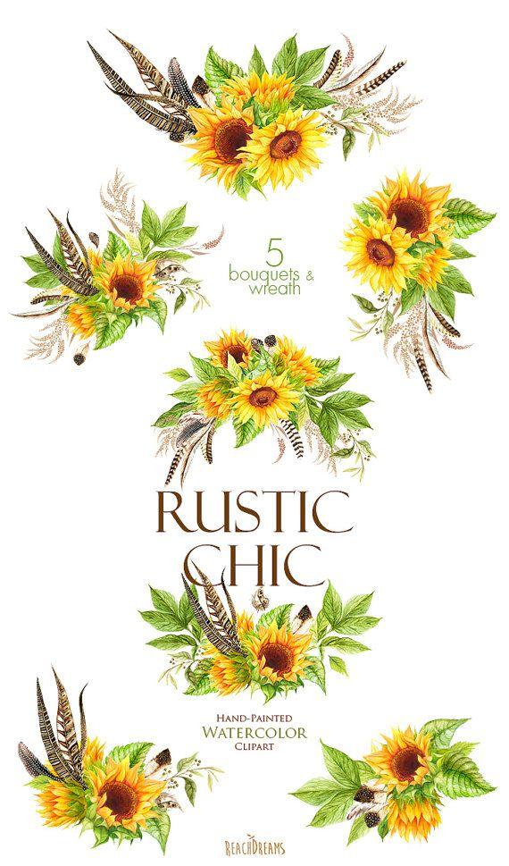 watercolor sunflower ideas