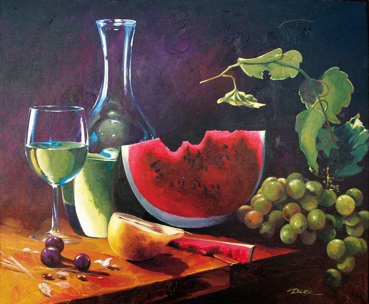 bodegón de frutas y vino - Buscar con Google