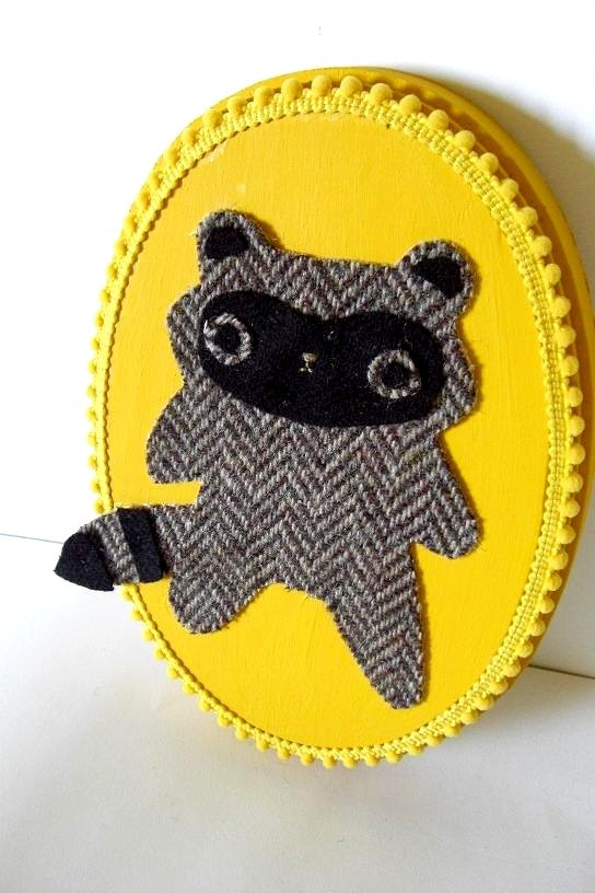 Raccoon.Holiday Delight, Crafts Ideas, Felt Crafts, Crafts Inspiration, Felt Sculture, Gifts Encouragement Gift, Elizabeth Boards, Hey Kiddos, Christmas Gifts Encouragement