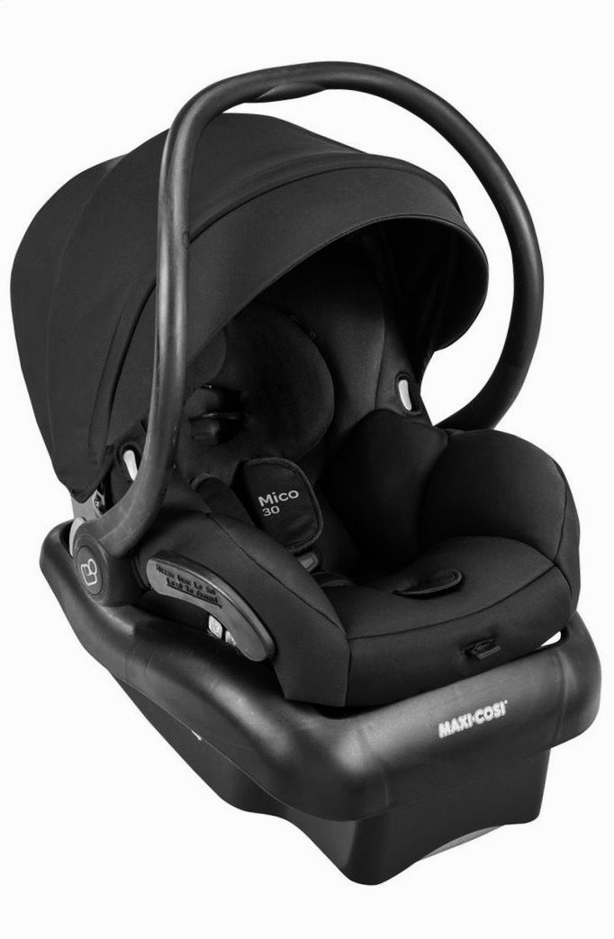 MAXI COSI INFANT CARSEAT  lightweight infant car seat features new moisture-wicking fabric with deodorizing technology to keep baby dry and comfy. The padded five-point harness can be adjusted without rethreading and the lig out of all the car seats we've looked at this one was most recommended!