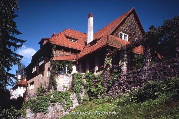 Villa Hvittrask, Log Dwelling; Hvittrask Residential Complex. Hvittrask, Finland. 1903. Eliel Saarinen