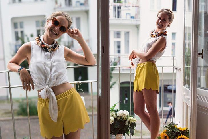 Sommershorts gelb